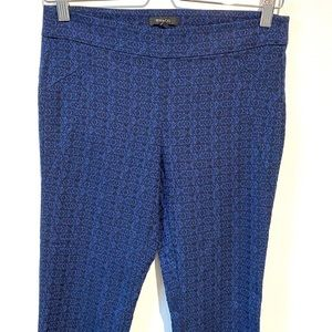 RW&CO   ankle cropped patterned work pants